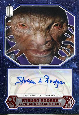 Doctor Who 2015 [Red][##/10] Autograph Card Struan Rodger - Voice Face of Boe***