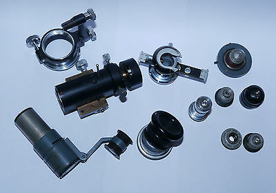 Various Vintage CTS Metallurgical/Projection Microscope Parts - Objectives etc.