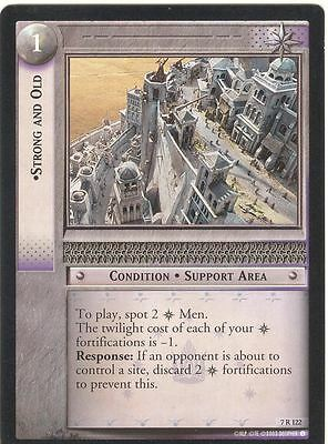 Lord Of The Rings CCG Card RotK 7.R122 Strong And Old