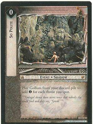 Lord Of The Rings CCG Card RotK 7.R74 So Polite