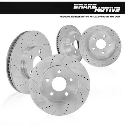 Front and Rear Quality Brake Disc Rotors Kit PONTIAC G8 2009 GXP