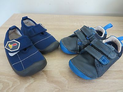 infant boys Clarks First shoes 4 F & Bubble Gummers trainers 4