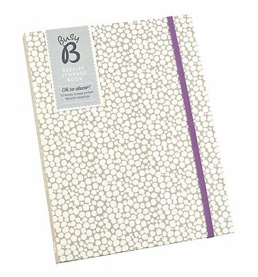 NEW! Busy B Receipt Storage Book Journal Organiser