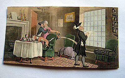 """Rowlandson Original  Aquatint- """"dr. Syntax Copying The Wit Of The Window """"."""