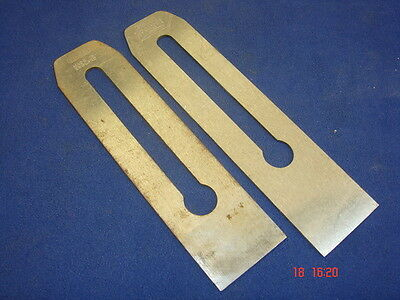 2 x Stanley Spare Plane Blades for No.3 Plane 44mm Wide