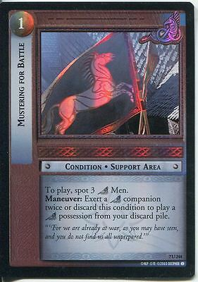 Lord Of The Rings Foil CCG Card RotK 7.U244 Mustering For Battle