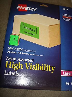 Avery Neon Assorted High Visibility Labels 5917