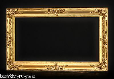 "Late C19th Gilt Picture Frame. Sight Size 25 1/4"" x 13 1/4"". Unusual Proportions"