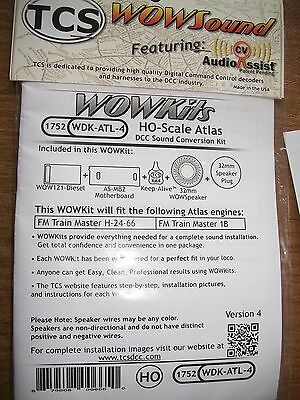 TCS #1752 WOW Diesel Sound Decoder  ATL-4  WOW Kit  Version 4  Bob The Train Guy