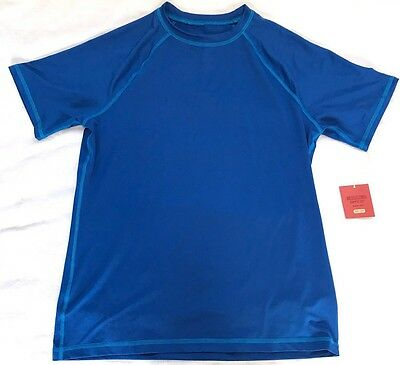MOSSIMO Women's TOP Short Sleeve SHIRT Size M Parish Blue UV PROTECTION New TAGS