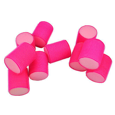 10 Large Pink Soft Hair Rollers Perfect For Sleeping In Curling Accessory