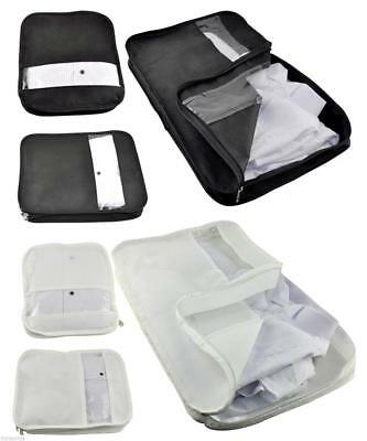 Set Of 3 Suitcase Organiser Bag Packers Tidy Case Luggage Packing Travel Cubes