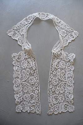 Antique handmade lace collar, Rosaline lace