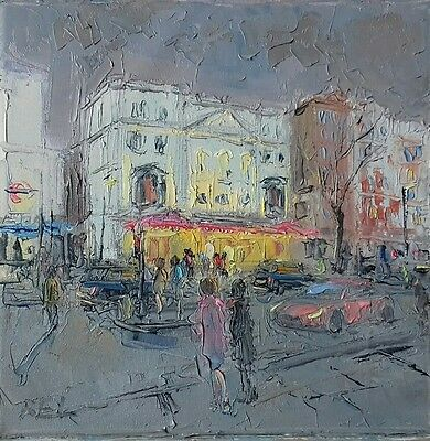 London-Wyndhams Theatre-oil on canvas-original painting-musical-show