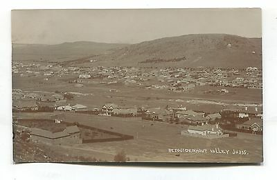 South Africa - Bezouidenhout Valley  & houses - early real photo postcard