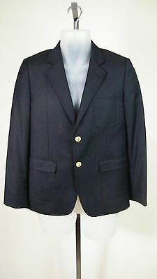 Brooks Brothers Red Fleece Boys' Navy Blue 2-Button 100% Wool Blazer Size 16