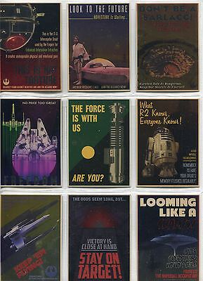 Star Wars Chrome Perspectives Complete Rebel Propaganda Chase Card Set 1-10