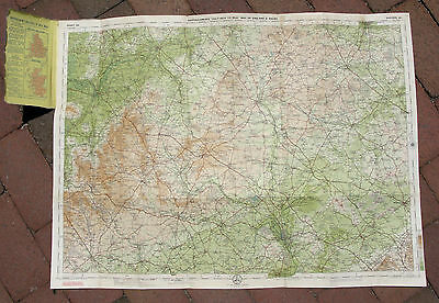 Antique 1912 Cloth Map of OXFORD / OXFORDSHIRE ENGLAND - Edinburgh Geographical