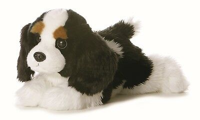 New AURORA FLOPSIE Stuffed Plush Toy CAVALIER KING CHARLES SPANIEL Puppy Dog 12""