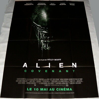 ALiEN COVENANT Ridley Scott Sci-fi Fassbender Waterston LARGE French POSTER