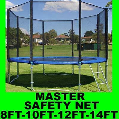 Universal Replacement Trampoline Safety Net Safe Surround Over Poles Cover New