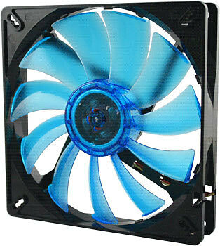 NEW! Gelid Solutions Wing 14 UV High Performance PC Case Fan Blue 140mm