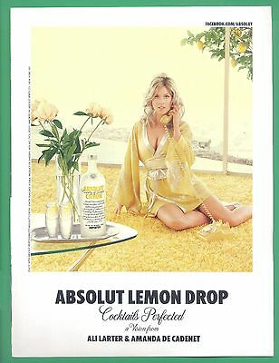 (A6). Ali Larter, Actress & Model in 2011 Absolut Vodka Magazine Print Photo Ad