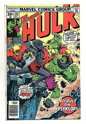 Incredible Hulk Vol 1 No 203 Sep 1976 (VFN) Marvel, Bronze Age (1970 - 1979)