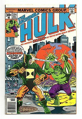 Incredible Hulk Vol 1 No 204 Oct 1976 (VFN) Marvel, Bronze Age (1970 - 1979)