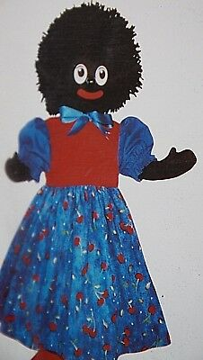 vintage craft Miss Molly Original fabric craft kit doll making kit black doll