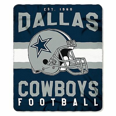 "New NFL Dallas Cowboys Helmet Logo Soft Fleece Throw Blanket 50"" X 60"""