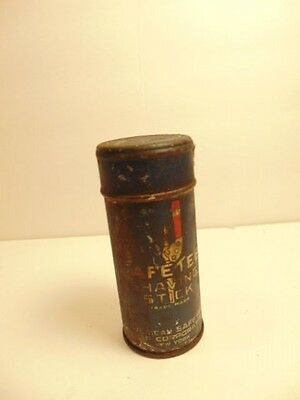 "Vintage ""SafeTee""  Shaving Stick metal tin (empty)"