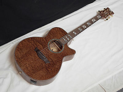 DEAN Performer Quilt Mahogany acoustic electric GUITAR - NEW - Built in Tuner