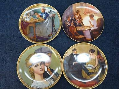 Norman Rockwell Collectors Plates Lot Of 4 (h1990)
