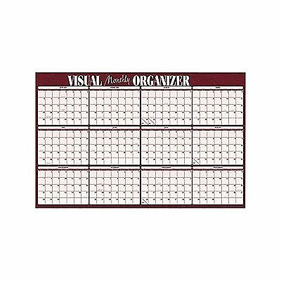 """At-A-Glance 2017 Reversible Horizontal Erasable Wall Planner 48"""" x 32"""""""