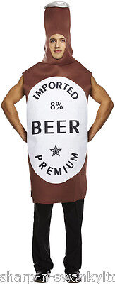 Mens Adult Beer Bottle Comedy Novelty Stag Do Funny Fancy Dress Costume Outfit