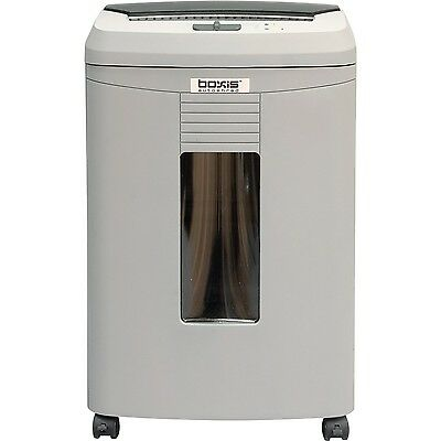 Boxis Autoshred 100 Sheet Autofeed Microcut Shredder, 6 gallon basket,