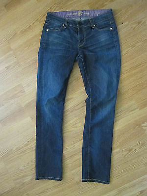 Rich & Skinny Sleek Dark Denim Jeans size 26 Straight Leg