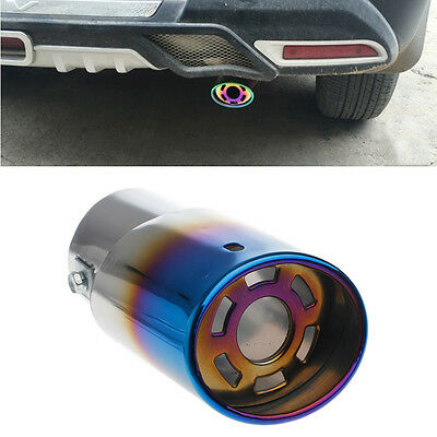 Universal Stainless Steel Car Rear Round Exhaust Pipe Tail Muffler Tip Hot