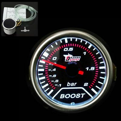 "2"" 52Mm Smoke Len Universal Auto Car Red Led Turbo Boost Gauge Meter Pointer 12V"