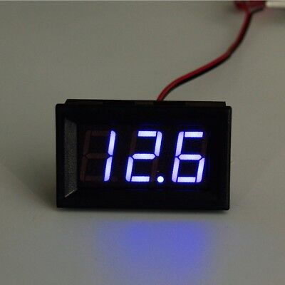 12/24v LED VOLTMETER BATTERY CHARGING INDICATOR WIRING DASHBOARD GAUGE CAR BOAT