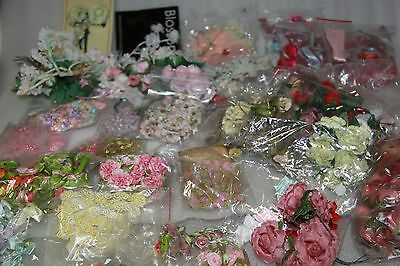 bulk flowers embellishments suit craft or doll making small flowers x 40 lots