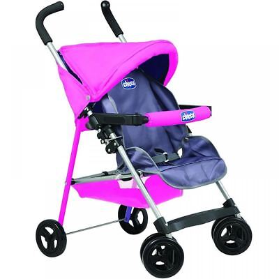 Chicco Sorrento Pink Push Along Girls Dolls Pushchair Pram Buggy Stroller Toy