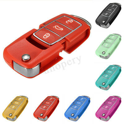 3 Button Key Fob Case Shell Cover For VW Golf Passat Beetle Polo Bora Seat Altea