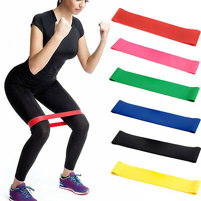 Elastic Resistance Loop Band Stretchy Crossfit GYM Sport Exercise Yoga Fitness