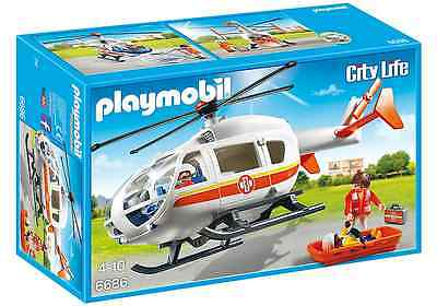 Playmobil City Life 6686 Rettunghelikopter Hubschrauber Helikopter