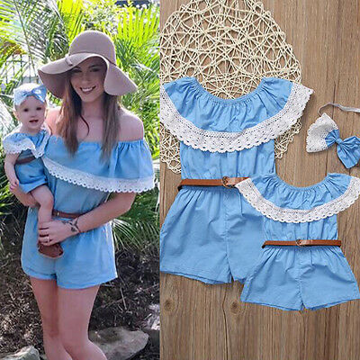 Mother and Daughter Kids Baby Girl Infant Romper Jumpsuit Dress Clothes Outfit**