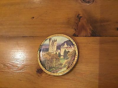 Vintage Powder Compact. Old, Maybe 1030's/40's? European Landscape Painting. GC