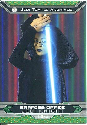Star Wars Chrome Perspectives II Gold Parallel Base Card 12-J Barriss Offee