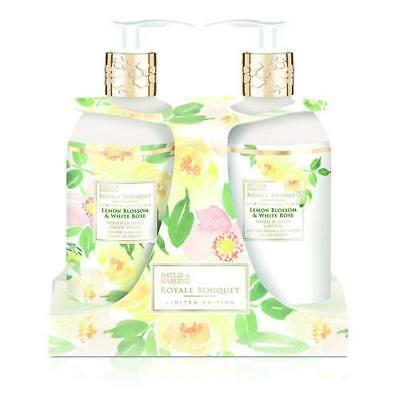 Baylis & Harding Lemon Blossom and White Rose Hand Wash & Hand Lotion Set FREE P